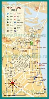 Туристическая карта Нячанга с достопримечательностями